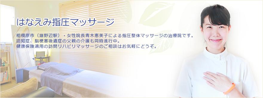 女性院長青木恵美子による指圧整体マッサージの治療院です。健康保険適用の訪問リハビリマッサージのご相談はお気軽にどうぞ。
